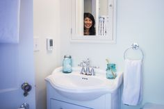 Make the most of your tiny bathroom by maximizing space and minimizing costs