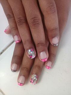 Nails, Beauty, Hair And Nails, Nail Designs, Nail Decorations, Nail Manicure, Make Up, Finger Nails, Ongles