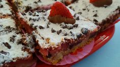 Chocolate dipped Strawberry squares
