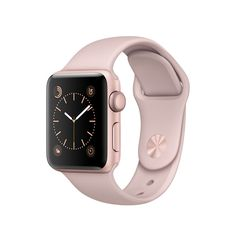 Customize your Apple Watch: 38mm or 42mm watch face, rose gold case with pink sport band, series 2
