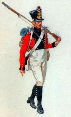 3 Fusilier Regiment of Swiss 1812 Fig. H Knotel.