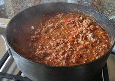 Chili.  This is the best chili recipe I've tried.  I only make this recipe now.  It's fantastic.