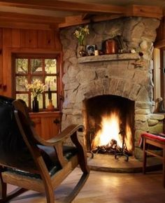 Rustic Fireplace Design ooh, love this fireplace , beautiful! | remodeling ideas