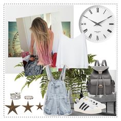 🎼🎼 by dianaribeiro-1 on Polyvore featuring polyvore, fashion, style, Alice + Olivia, adidas Originals, Forever 21, Georg Jensen, Art for Life, WALL and clothing