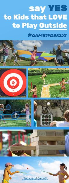 We want our Kids to LOVE to play Outside. The best way to do this is with Games for Kids, your backyard will be full of laughter Backyard Games Kids, Outdoor Activities For Kids, Fun Backyard, Outdoor Learning, Picnic Activities, Summer Activities, Kid Activities, Physical Activities, Outdoor Toys