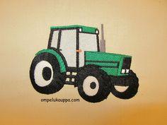Tyynyliina 50x60cm   Materiaali puuvillakangas valkoisena tai luonnonvalkoisena valintasi mukaan. Traktorin värin voi vaihtaa....