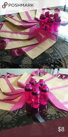 FREE GIFT PINK TOTE WITH MATCHING WATER BOTTLE FREE GIFT $10 ORDER. AVAILABILITY IS LIMITED. Bags Totes