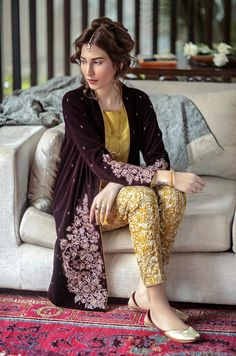 High Fashion Pakistan — Generation, Ottoman Vasli, F/W 2015 Pakistani Party Wear, Pakistani Wedding Outfits, Pakistani Couture, Pakistani Dress Design, Pakistani Dresses, Indian Outfits, Shadi Dresses, Nikkah Dress, Dresses Dresses