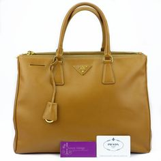 Prada Lux BN1786 Brown Caramel Colour Saffiano Leather Good Condition Ref.code-(KSSE-1) More Information Or Price Pls Email  (- luxuryvintagekl@ gmail.com)
