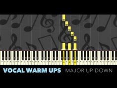This is a vocal warm up using the first 5 notes of the major scale, starting on G it rises through each key for 2 octaves. Vocal Warm Up Exercises, Instrument Sounds, Major Scale, Free Sheet Music, Workout Warm Up, Singing Tips, Sounds Great, Choir, Musical