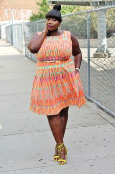Keeping It Chic In A Gabby Skye Aztec Print Dress For NYFW