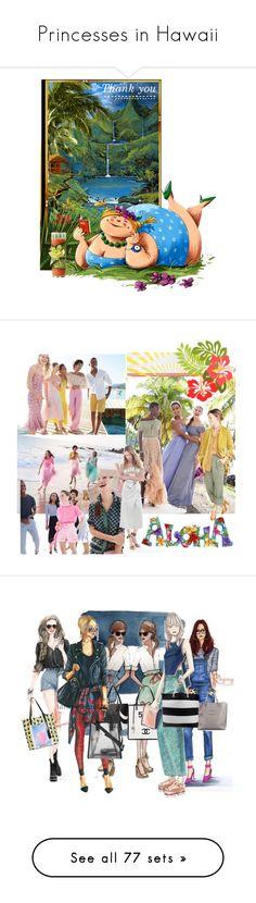 """Princesses in Hawaii"" by anjelakewell ❤ liked on Polyvore featuring art, Missoni Mare, Lisa Marie Fernandez, Aquazzura, Fendi, Allurez, Ermanno Scervino, Fisico, Sensi Studio and BCBGeneration"