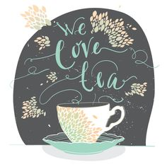 Free Stock Vector - Cute Tea Cup Illustration via DryIcons