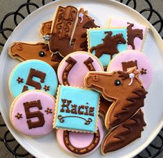 Horse Rodeo Sugar Cookie Collection by NotBettyCookies on Etsy, $38.00