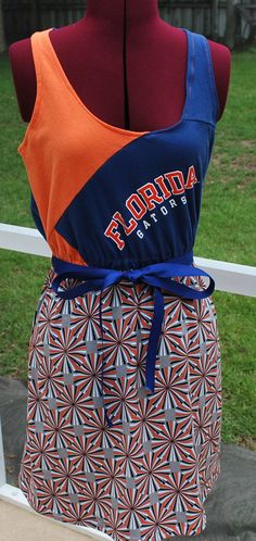 Love the Gators!  Game day Up cycled Dress