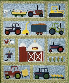 Free Country Quilt Patterns   On The Farm Applique Quilt Pattern Country Quilter   eBay