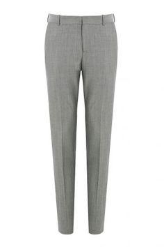 Alexander McQueen Alexander McQueen Anzughose aus Wolle und Mohair – Grau