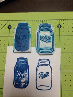 Mason Ball Jar DIY Stamps