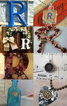 Scrabble letter R pendant
