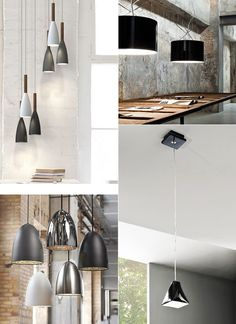 minimalistische einrichtung mit Designer Pendellampen in schwarz, weiß und grau_moderne industrieleuchten für stilvolle Einrichtung im Industrial Style