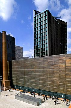 Mediacomplex 22@ en Barcelona (Patrick Genard y Asociados). Cobre utilizado: bronce. #arquitectura #cobre