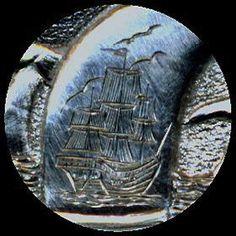 Steve Ellsworth - Scrimshaw (Closeup) Hobo Nickel, Carving, Wood Carvings, Sculptures, Printmaking, Wood Carving
