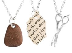 Rock Paper Scissors Friendship Necklaces by TheBowedArrow on Etsy
