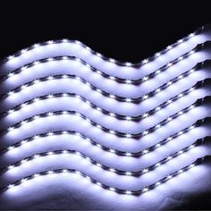 EE support 8 Pcs 15 LED 12V 30CM License Plate Lights Grill Flexible Waterproof Led Light Strip SMD Car Accessories XY01