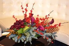 http://www.danmeiners.com/flowers  #holiday #floral #lillies #peonies #beautiful #christmas