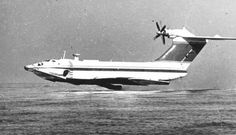 Ekranoplan KM 'Caspian Sea Monster' seaplane Ground Effects, Passenger Aircraft, Flying Boat, Ac 130, Sea Monsters, Military Aircraft, Armed Forces, Abandoned Places, Air Force