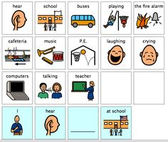 Chapel Hill Snippets: What Do You Hear at School---printable book with icons, free as usual