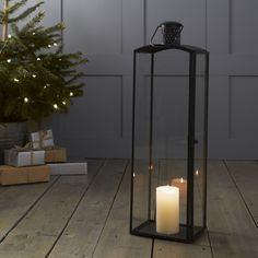 Buy The Festive Mantelpiece Collection - Grey - from The White Company Lantern Candle Holders, Candle Lanterns, Candle Sconces, Candles, Christmas Room, All Things Christmas, White Christmas, Xmas, Christmas Decorations Online