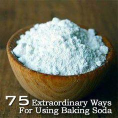 75 Extraordinary Ways For Using Baking Soda