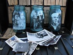 Love the pics inside mason jars! Etsy shop MayDae - I have these jars, waiting for something to do with them