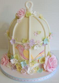 Birdcage Cake by mrsvb78 on Cake Central
