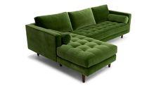 Sven Grass Green Left Sectional Sofa - Sectionals - Article   Modern, Mid-Century and Scandinavian Furniture