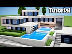 Minecraft: How to Build a Large Modern House Tutorial (#2) - YouTube
