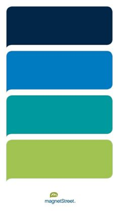 Navy, Medium Blue, Teal, and Lime Wedding Color Palette - custom color palette created at MagnetStreet.com