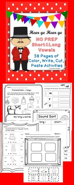Do your little ones need some extra help and practice with phonics? This is a wonderful NO PREP packet that will keep students engaged. Students will love that it includes coloring, writing, cutting, and pasting.  Teachers will love that it is Print and Go. These pages can be used with RTI, whole group, small group, or centers. You will be glad you downloaded this today!