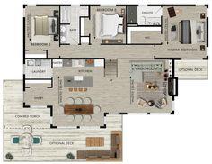 Beaver Homes and Cottages - Magnetawan Cabin House Plans, Cabin Floor Plans, Dream House Plans, Small House Plans, Barn Plans, Beaver Homes And Cottages, Simple Floor Plans, Cabin Homes, Log Homes
