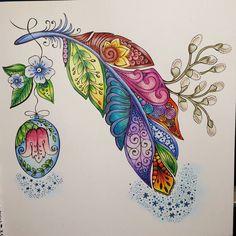 #coloring #ritaberman #ritabermancoloringbooks #meinfrühlingsspaziergang #polychromos #prismacolor #gellyroll