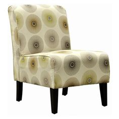 Side chair with medallion upholstery and fire-resistant foam cushioning. Product: Side chairConstruction Material: Wood and fabricColor: Cream sunFeatures: Will enhance any d& H x W x D Unique Furniture, Furniture Decor, Side Chairs, Dining Chairs, Stylish Chairs, Reclaimed Timber, Joss And Main, Club Chairs, Great Rooms