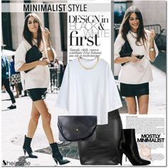 How To Wear Chic Minimalist Style. New York Fashion Week Street Style Outfit Idea 2017 - Fashion Trends Ready To Wear For Plus Size, Curvy Women Over 20, 30, 40, 50