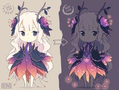 [CLOSED] ADOPTABLE | Bioluminescent Flower Sprite by ocono.deviantart.com on @DeviantArt