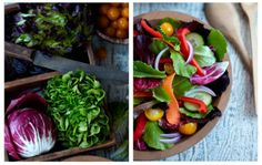 I like both of these images. I like the ingredient image image on the right with the final dish on the left. Nice colors and lighting. Food Photography by Michael Maes
