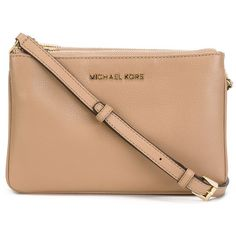 Michael Michael Kors Bedford Crossbody Bag ($186) ❤ liked on Polyvore featuring bags, handbags, shoulder bags, bolsos, purses, purses crossbody, handbags crossbody, crossbody shoulder bag, leather crossbody purse and crossbody purse