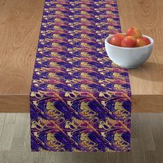 Astrology 5 – Tropical Astrology and Modalities – Seen By None Planets In The Sky, Better Weather, Cancer Sign, Mitered Corners, Astrology Zodiac, Purple Gold, Table Runners, Color Splash, Spoonflower