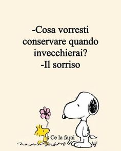Peanuts Cartoon, Italian Quotes, Charlie Brown And Snoopy, Just Smile, Pretty Words, Vignettes, True Stories, Favorite Quotes, My Books