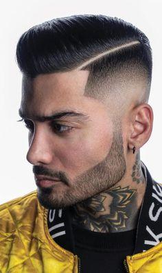 Cool Mens Haircuts 2020 Comb Over Fade Haircut, Fade Haircut Styles, High Fade Haircut, Stylish Short Haircuts, Cool Mens Haircuts, Cool Hairstyles For Men, Amazing Hairstyles, Men's Haircuts, Side Part Haircut