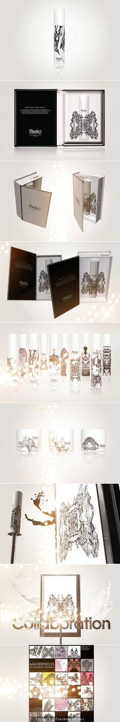 The very beautiful Medici cosmetics #packaging curated by Packaging Diva PD created via http://www.packagingoftheworld.com/2013/01/medici-cosmetics-milano.html